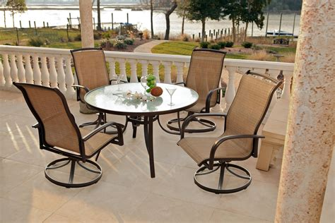Agio Patio Chairs Agio Panorama 9 Pc Patio Dining Set Images Frompo