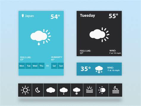 ui layout plugin weather widget ui psd freebie download download psd