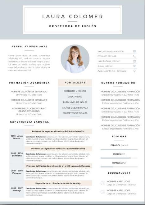 Plantilla De Curriculum Publisher top mejores plantillas curriculum vitae gu 237 a para elegir