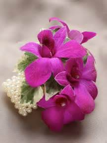 orchid wrist corsage the flower garden rich purple dendrobium orchid wrist corsage the flower garden brighouse