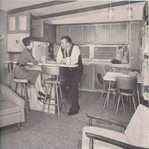 Kitchen With Breakfast Bar Designs by Mobile Home Kitchens From 1955 To 1960