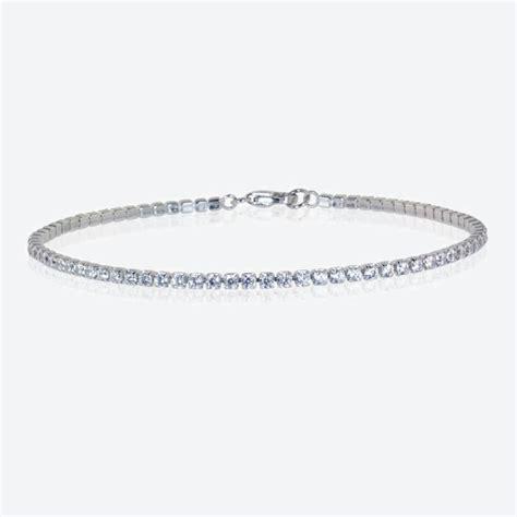 Natasha Sterling Silver DiamonFlash Cubic Zirconia Bracelet