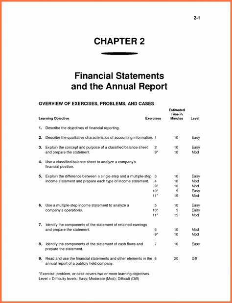 financial statement editable powerpoint template