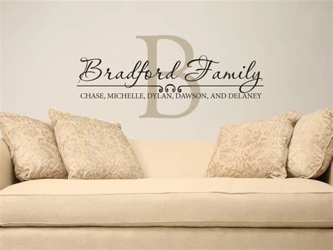 custom name wall stickers family name wall decal custom personalized name vinyl wall