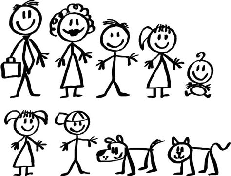 small stick figure on my stick figure family instead of a decal on my car of my