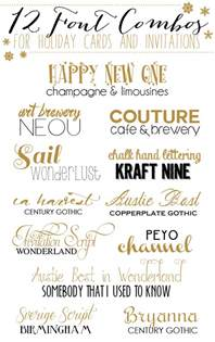 wedding invite font pairing 12 font combos for holidays cards and invitations yellow bliss road