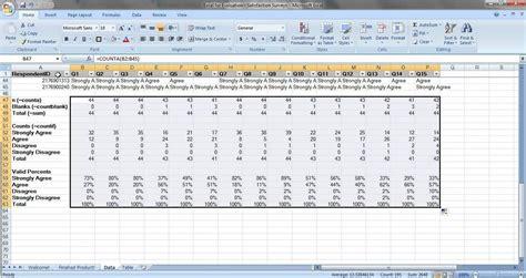 survey spreadsheet template excelxocom