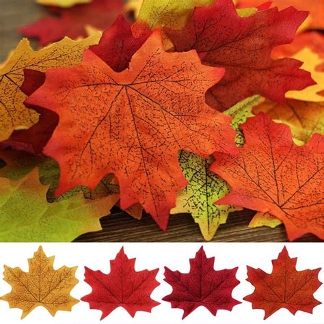 lots 100x maple leaves autumn fall leaf wedding party holiday home decor ebay