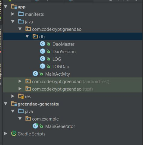 greendao tutorial android studio greendao android studio stack overflow