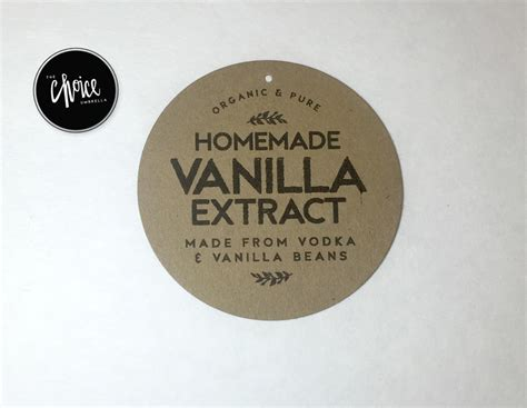 homemade vanilla extract label template bing images