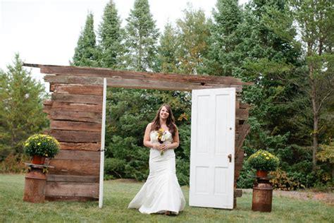Wedding Ceremony Doors by Reclaimed Wood Doors Wedding Ceremony Entrance Elizabeth