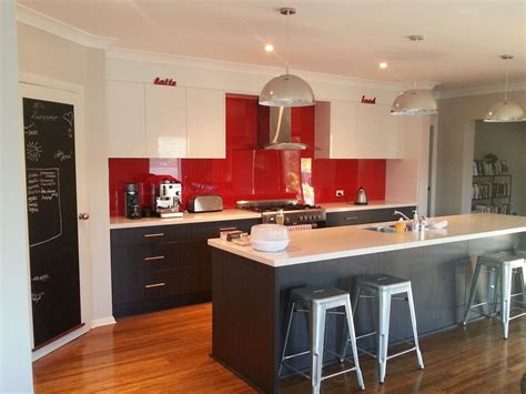tile splashback ideas pictures red painted kitchens red kitchen splashback like the cb pantry door kitchen