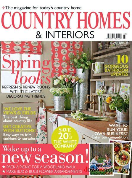 country home design magazines country homes interiors march 2011 187 download pdf