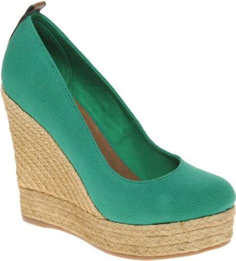 aldo aldo drewel espadrille platform wedge shoes in green