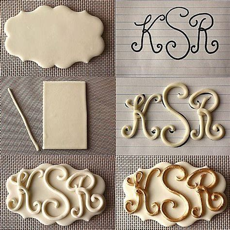 monograms letters fondant cake ideas and designs