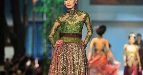 Wedges Tenun Green hijau lumut kebaya inspired dress