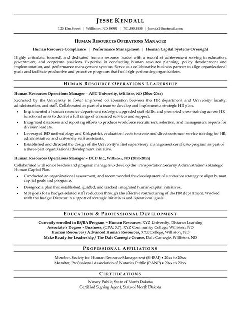 sle human resources manager resume free resumes tips