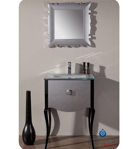 Modern Bathroom Vanity Handles Fresca Platinum Fpvn7512sl Bl Viena 24 Quot Glossy Silver