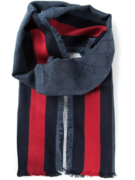 gucci monogram scarf in multicolor for blue lyst