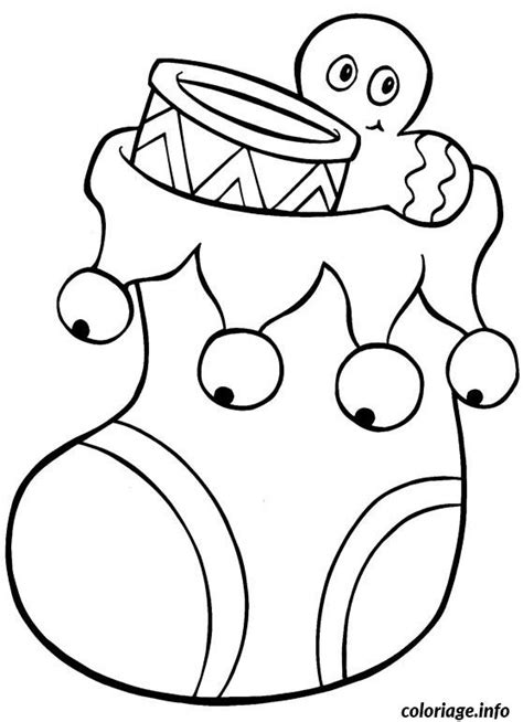 imagenes de navidad para dibujar en tela coloriage chaussette grelot noel jecolorie com