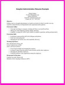 exle for hospital administration resume 114