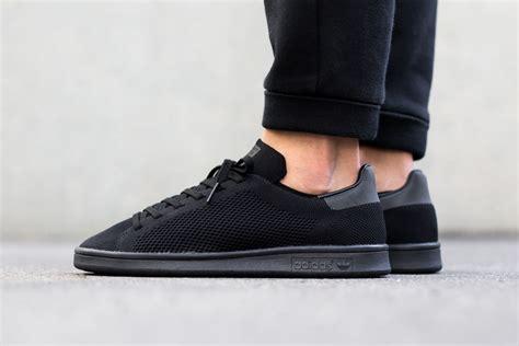 adidas stan smith primeknit triple black sneaker bar detroit