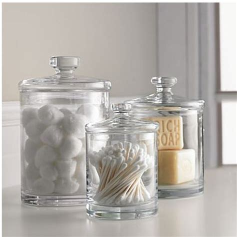 Bathroom Storage Jars Best 25 Bathroom Jars Ideas On Pinterest