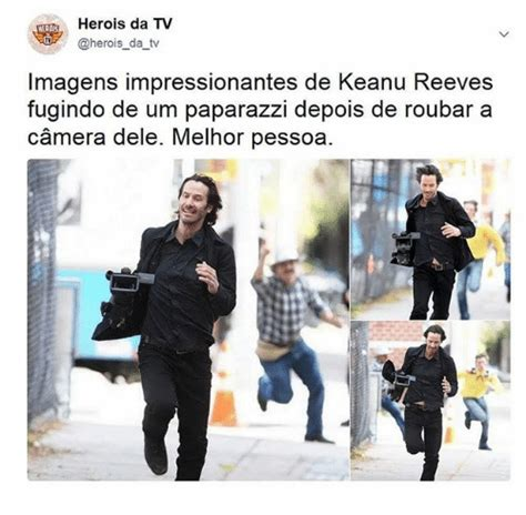 Keanu Reeves Runs The Paparazzi by 25 Best Memes About Memes
