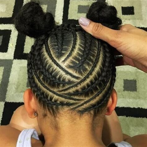 hairstyle with two corn row with bun to the side 50 cute natural hairstyles for afro textured hair hair