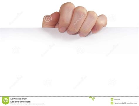 How To Make Paper Holding - holding white paper stock image image of bended
