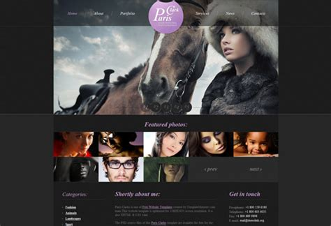 free html5 photography website templates 40 well designed free html5 and css3 templates