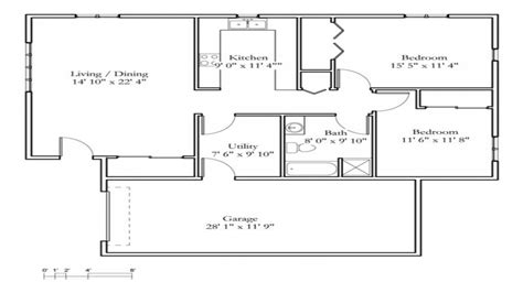 cottage house floor plans small 2 bedroom cottage 2 bedroom cottage floor plans