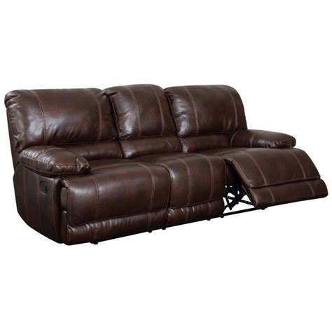 Leather Sofa Usa Global Furniture Usa Leather Recliner Sofa In Brown U1953 R S M