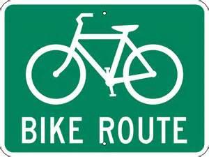 ... Prismatic Reflective .080 Aluminum Bike Route Informational Stock Sign I 70 Bike Path