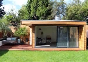 Backyard Brick Bbq Modern Garden Studio Built In Central London Garden Lodges