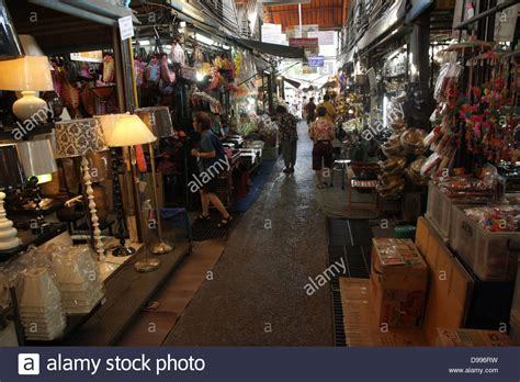 thailand home decor walkway near a home decor shop at chatuchak weekend market in bangkok stock photo royalty free