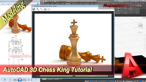 construct 2 chess tutorial autocad 3d modeling chess king tutorial exercise 25 youtube