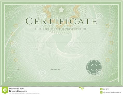 Certificate Diploma Award Template Grunge Patte Stock Vector Illustration Of Formal Diploma Certificate Template