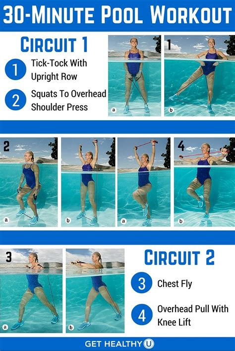 minute pool workout  blast fat exercise pinterest