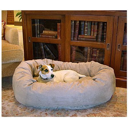bagel dog bed majestic pet products bagel dog pet bed 32 inch stone