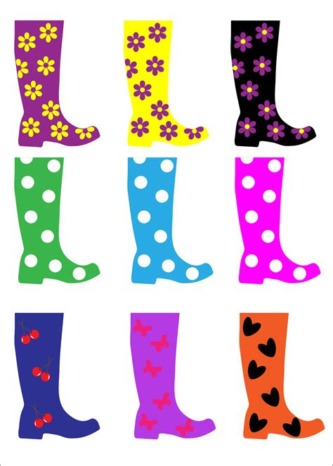 colorful boots colorful boots free stock photo domain pictures