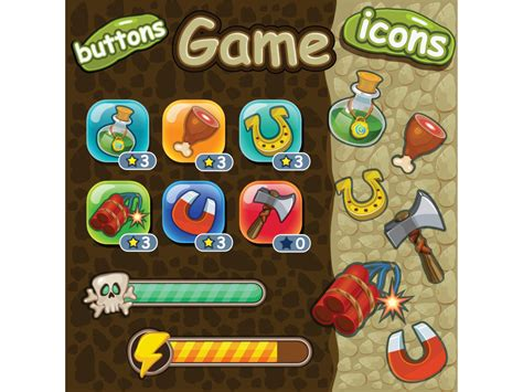game design elements in vector from stock 2 game design elements in vector from stock 1 25 eps