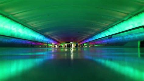 detroit airport light tunnel dtw tunnel from concourse a to c