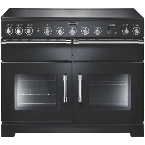 electric induction range cookers 110cm buy rangemaster exl110eibl c excel gloss black with chrome trim 110cm electric induction range