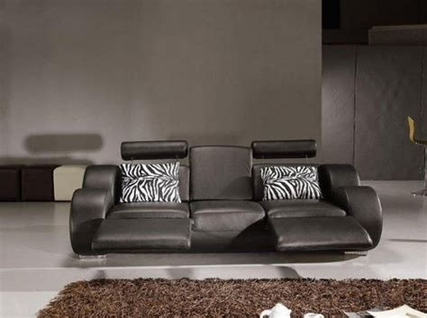 Modern Recliner Sofas by 3pc New Modern Recliner W Cup Holder Leather Sofa Set