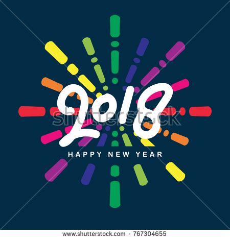 creative happy new year 2018 creative happy new year 2018 design stock vector 767304655