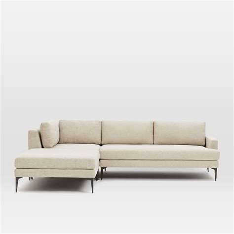 west elm andes sofa andes 3 piece chaise sectional west elm