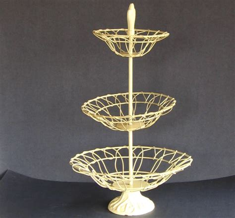vintage 3 tier fruit basket christmas ornament stand