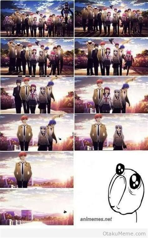 Angel Beats Memes - otaku meme 187 anime and cosplay memes 187 so sad again