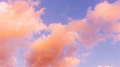 wallpaper  clouds sky porous orange
